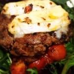 Homemade Gourmet Sticky BBQ Beef Burgers