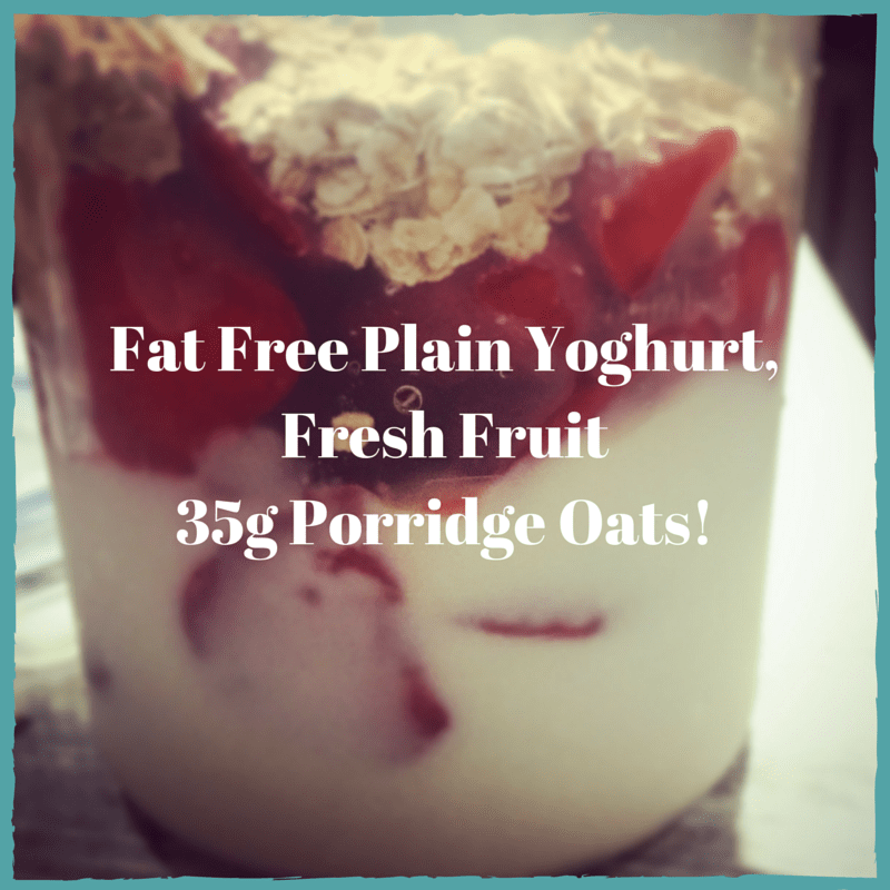 Fat Free Plain Yogurt, Fresh Fruit and (1)