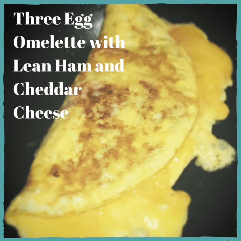 Three Egg Omelette with Lean Ham and Cheese