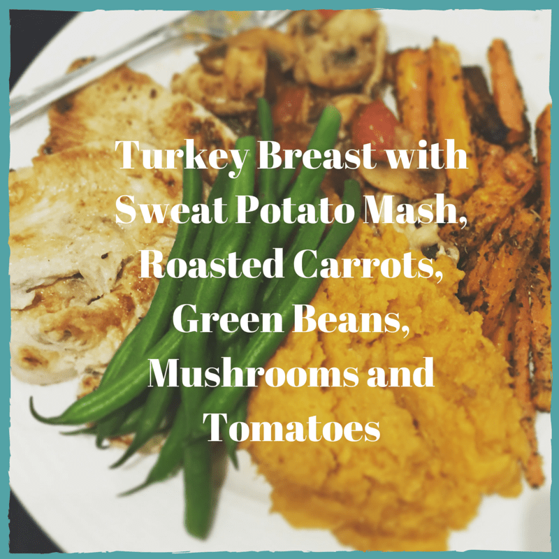 Turkey Breast with Sweat Potato Mash,