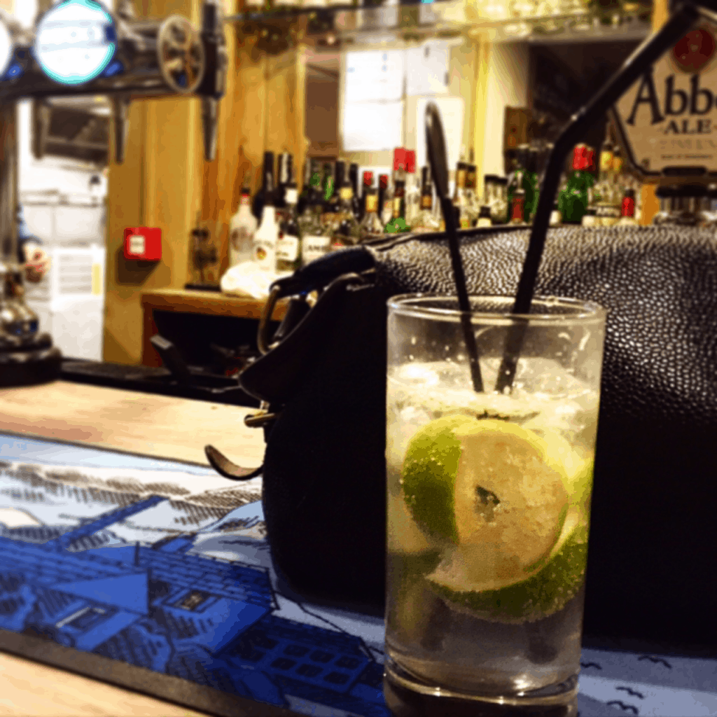 My gin and soda on a night at the pub...with A LOT of fresh lime!