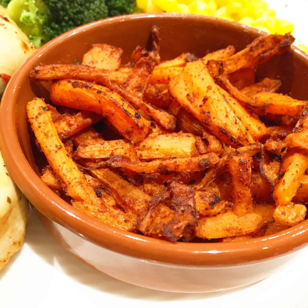 Chilli & Paprika Carrot Chips – Basement Bakehouse