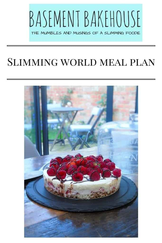 Seven day meal plan basement bakehouse Simple slimming world meals