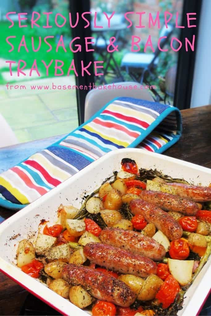 Seriously Simple Sausage & Bacon Traybake - Slimming World - Syn Free - Easy Recipe - Healthy - Basement Bakehouse