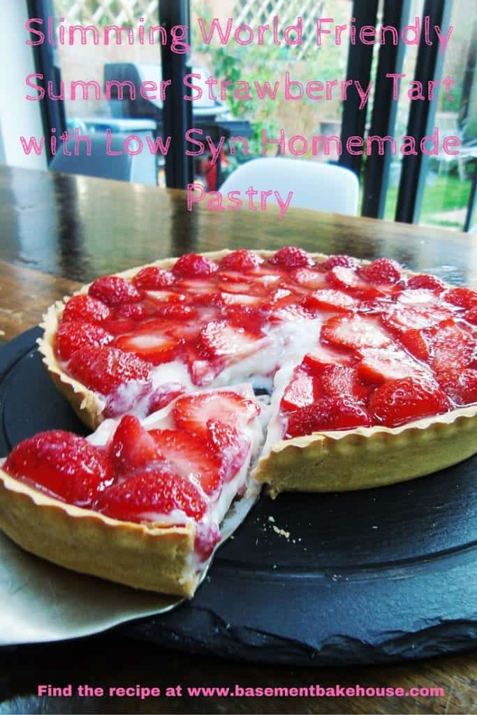Slimming World Friendly Summer Strawberry Tart with Low Syn Homemade Pastry