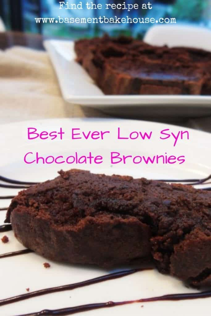 Best Ever Low Syn Chocolate Brownies - Slimming World - Basement ...