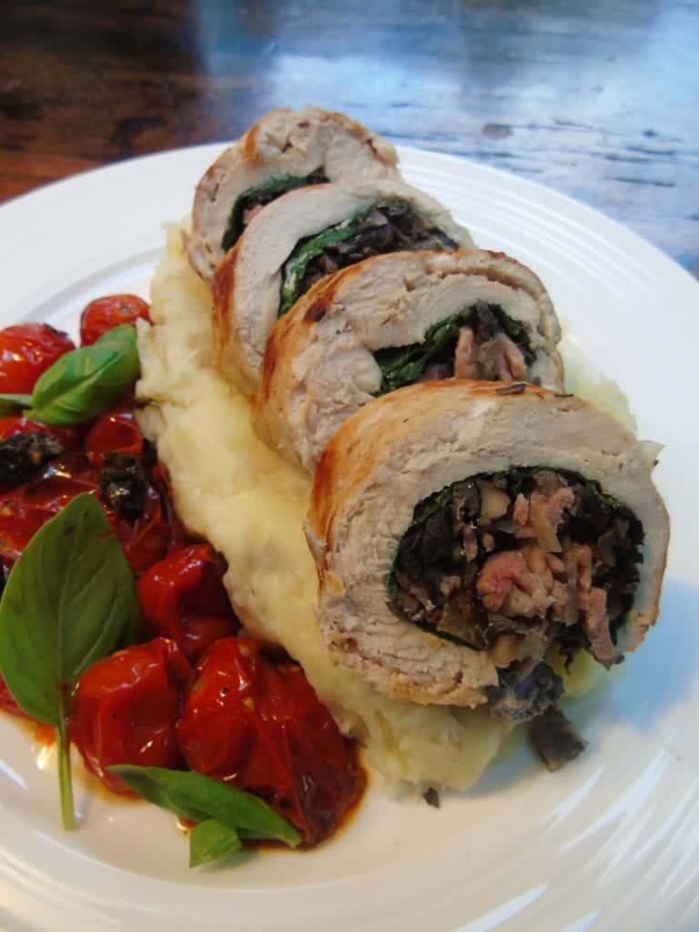 Chicken Baollotine with Cheesy Mash - Slimming World - Syn Free - Recipe -Healthy Cooking - Basement Bakehouse