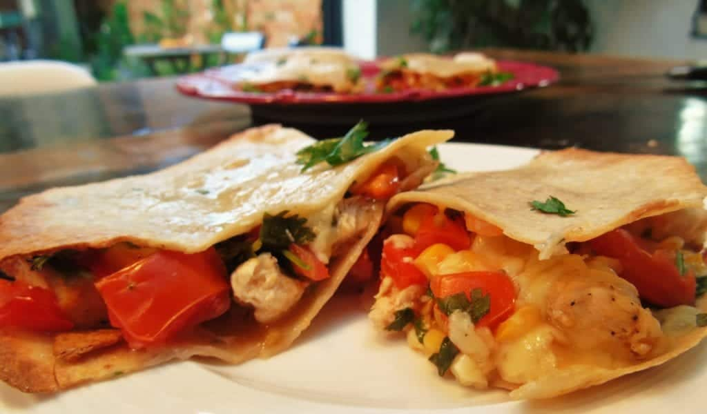 Syn Free Chicken Quesadilla