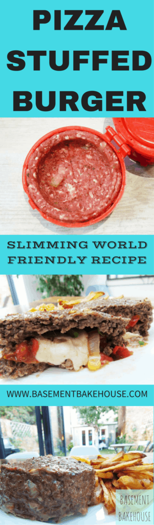 Syn Free Pizza Stuffed Burgers - Slimming World Recipe - Syn Free - Easy - Food Porn - Healthy Extra A - Healthy Extra - HexA