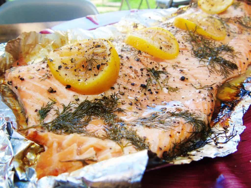 Baked Lemon and Dill Salmon - Syn Free - Slimming World - Easy - Dinner