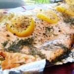 Syn Free Lemon & Dill Baked Salmon