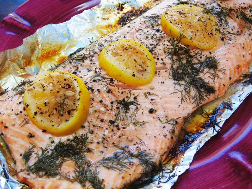Baked Lemon and Dill Salmon - Syn Free - Slimming World - Easy - Dinner