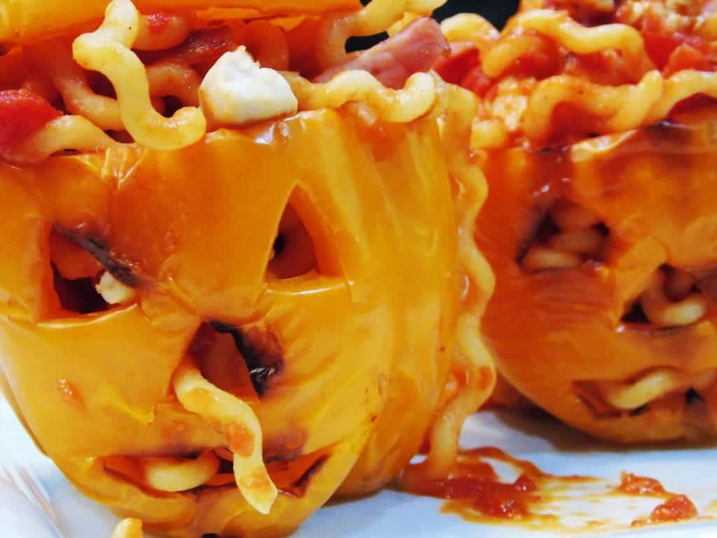 Scary Syn Free Halloween Stuffed Peppers