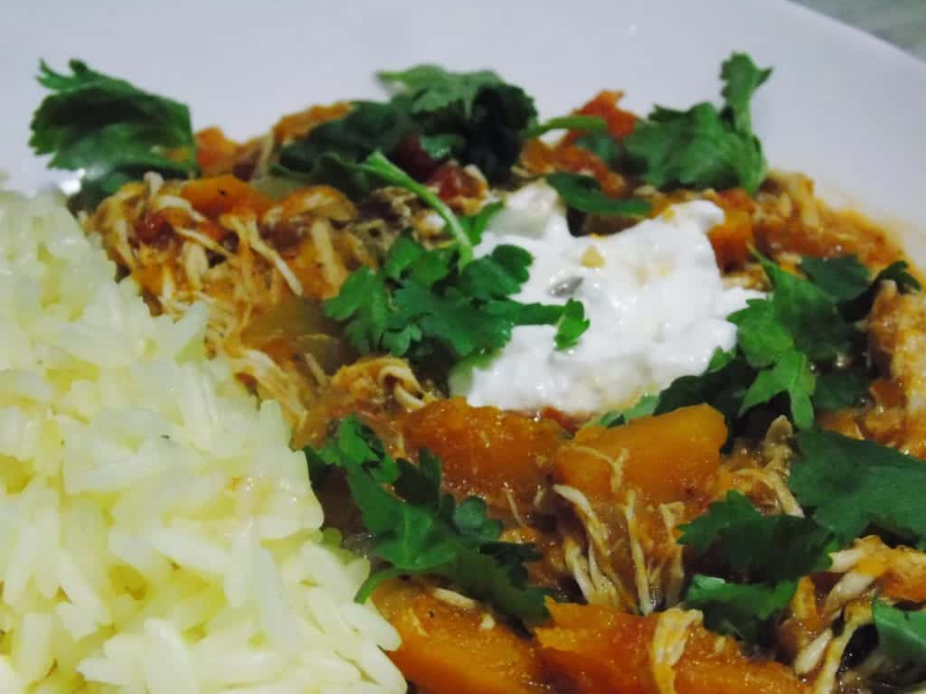 Syn Free Slow Cooked Chicken Butternut Squash Curry