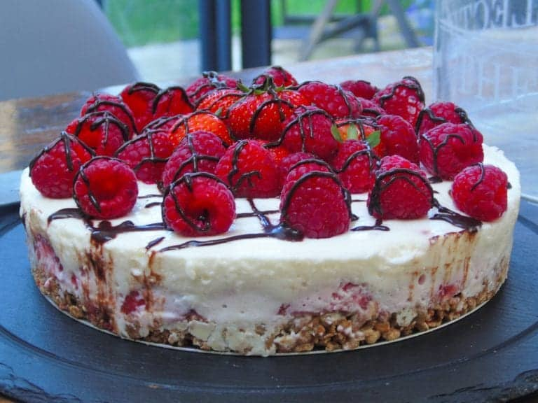 My Syn Free No Bake Berry Cheesecake...and yes, it's made with Quark...and yes it's frigging delicious!