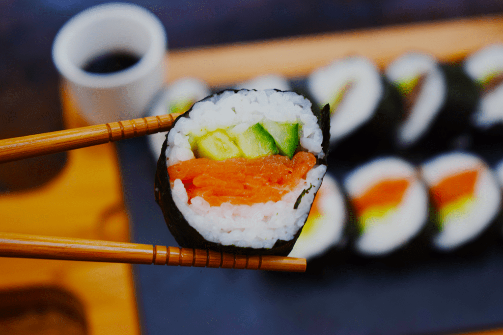 Homemade Syn Free Sushi Made With Sushi Bazooka - Slimming World - Healthy Living