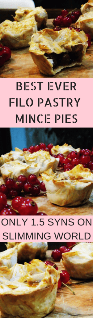 DELICIOUS FILO PASTRY MINCE PIES! Low Syn Mince Pies - Slimming - World - Mince - Pies - Christmas - Recipe - Low - Syn