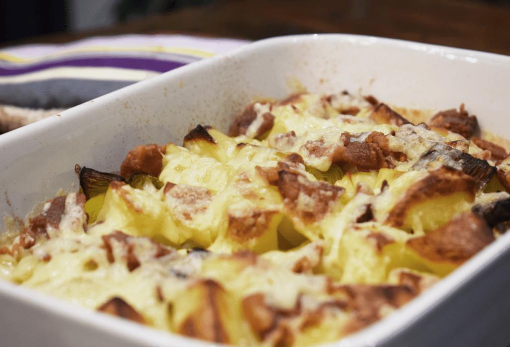 Loaded Leek Potato Bake