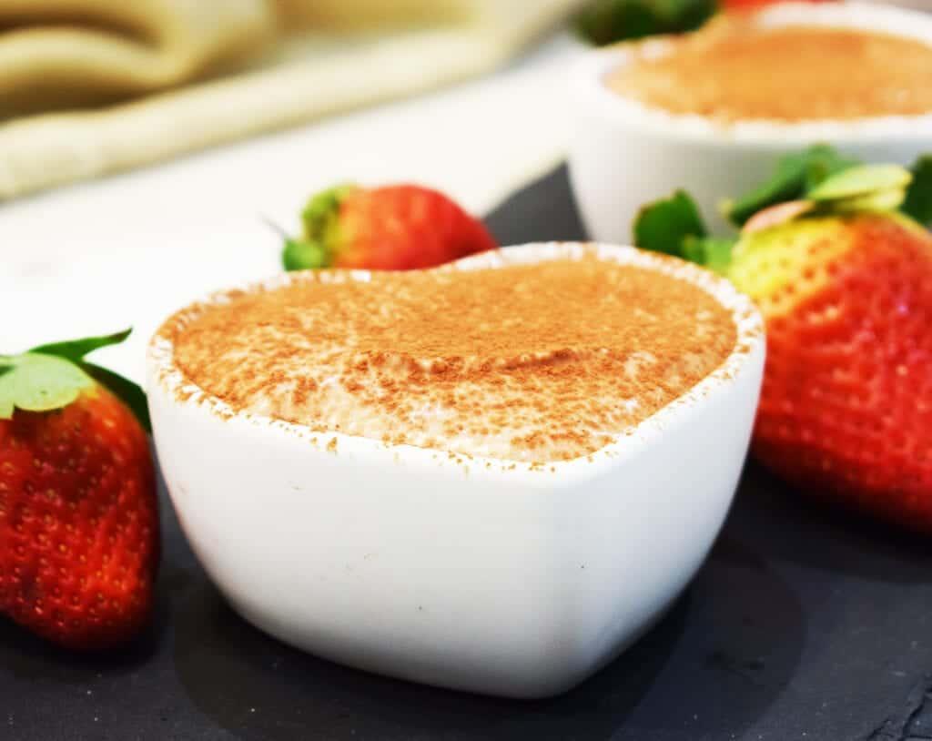 Healthy No Bake Chocolate Cheesecake Pots - Basement Bakehouse