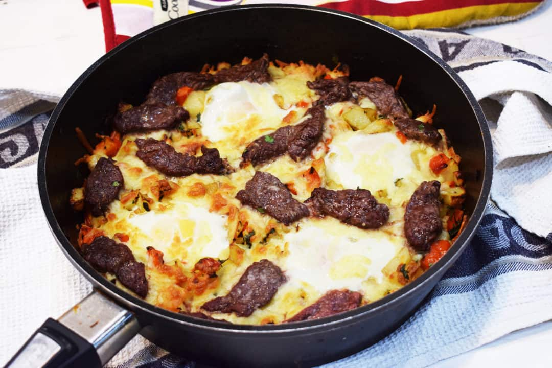 Cheesy - Steak & Egg Hache - Slimming World - Syn Free