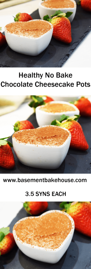 Healthy Chocolate Cheesecake Pots