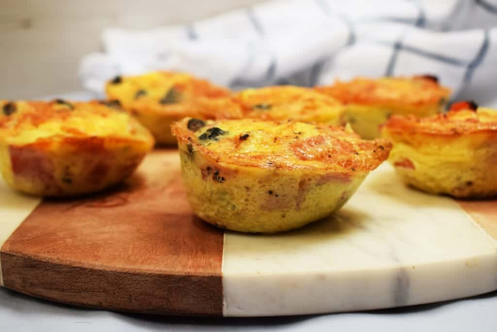 Make Ahead - Bacon - Cheese - Veg - Breakfast Muffins - Gluten Free - Low Carb - Syn Free - Slimming World