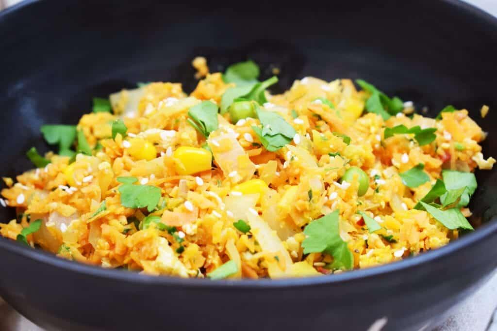 Sweet Potato Fried Rice - Low Carb - Gluten Free - Fakeaway - Syn Free - Slimming World