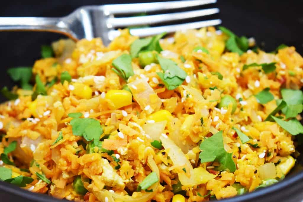 Sweet Potato Fried Rice - Low Carb - Gluten Free - Fakeaway - Syn Free - Slimming World