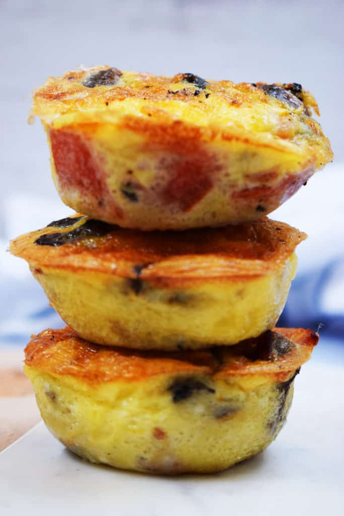Make Ahead - Bacon - Cheese - Veg - Breakfast Muffins - Gluten Free, Low Carb, Syn Free on Slimming World
