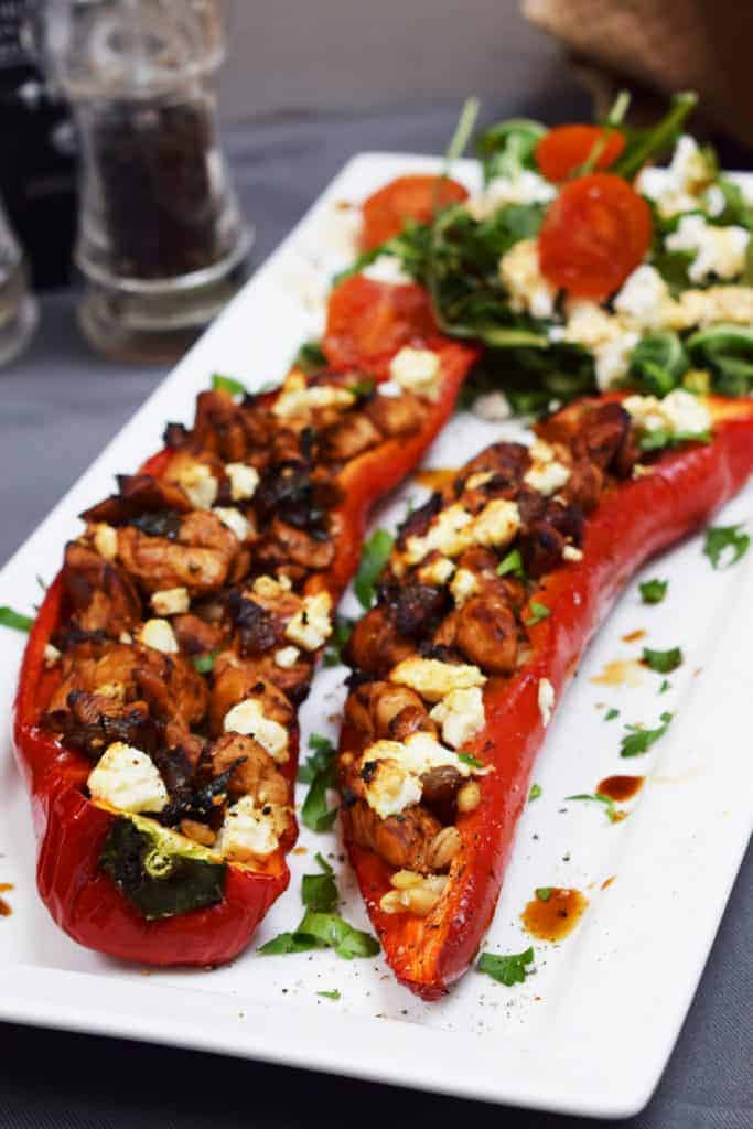 Balsamic - Chicken & Feta - Stuffed Peppers - Recipe - Slimming World - Syn Free - Gluten Free - Summer - Easy - Lunch