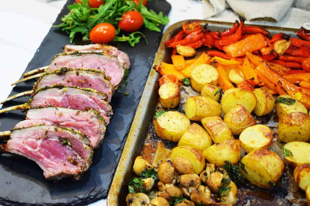 Easy Peasy Sheet Pan Lamb Roast - Iceland Luxury Rack of Lamb - Iceland Luxury Croquembouche - Easter Lamb Roast - Recipe - Slimming World - #PowerOfFrozen