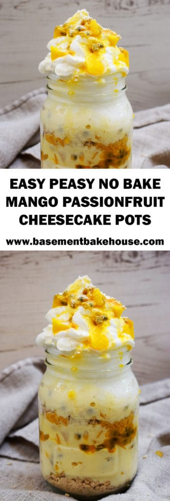 Make this delicious Easy Peasy No Bake Mango Passionfruit Cheesecake Pots recipe for a light and healthier Slimming World friendly pudding!