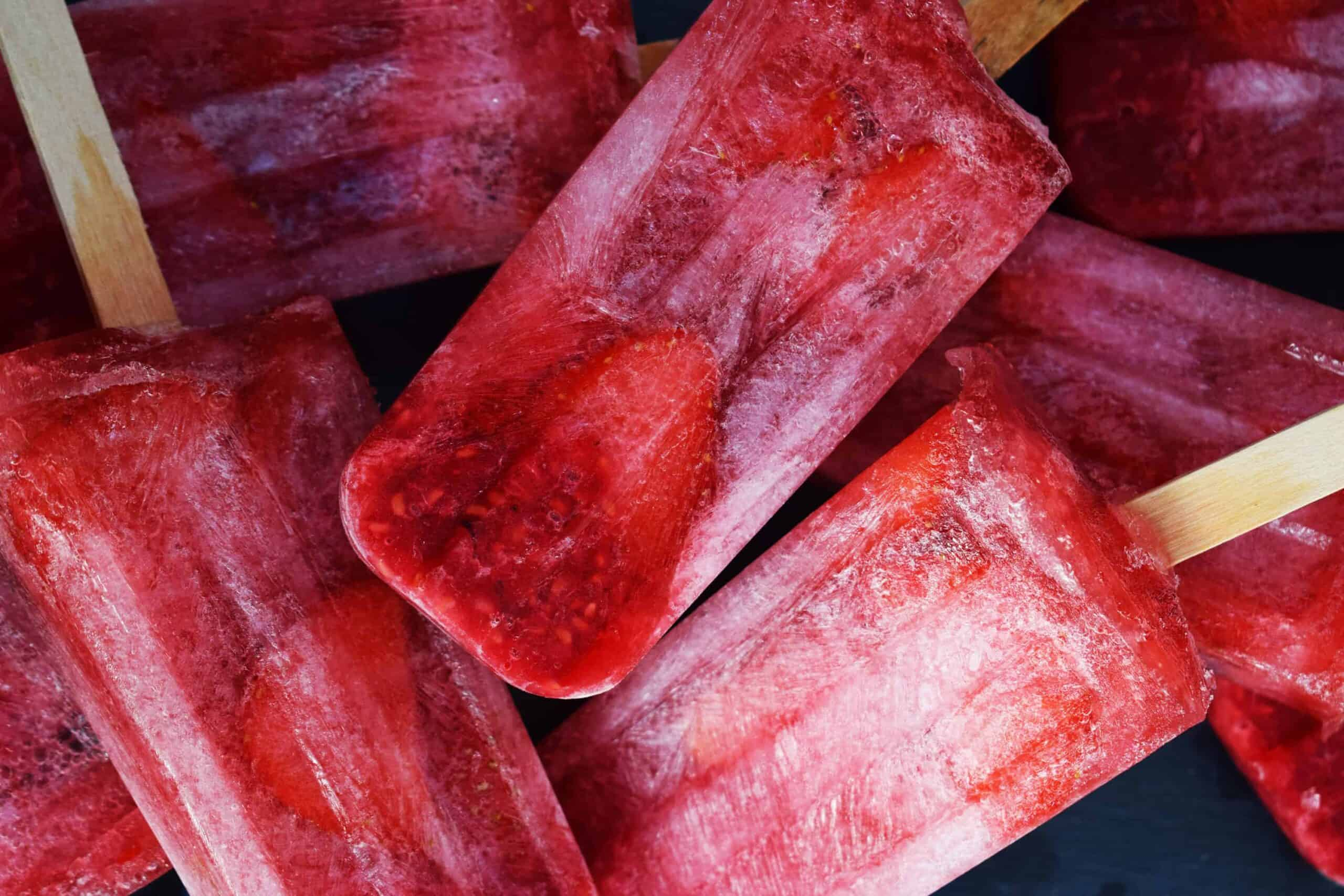 Homemade Fresh Berry Ice Lollies