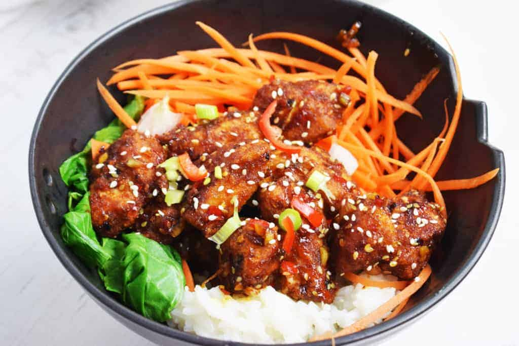 Sticky Sesame Chicken Pieces