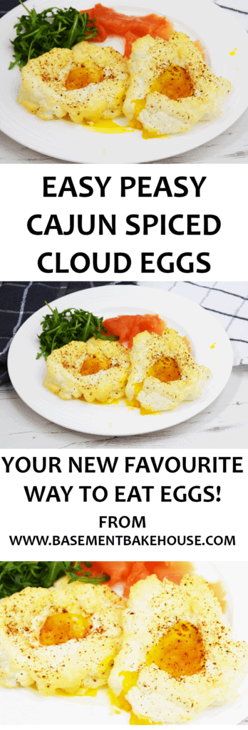These Cajun Spiced Cloud Eggs are the egg recipe you never knew you needed! Switch up your breakfast, brunch, lunch or dinner with this brand new way to oven cooked healthy eggs! Perfect for Slimming World!