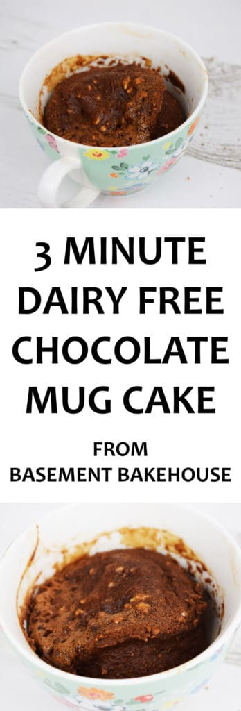 Make this 3 MINUTE DAIRY FREE CHOCOLATE MUG CAKE tonight! Fix your chocolate cravings with this healthier option and don't give into your sweets draw! Perfect for Slimming World, this recipe is 8 syns which is well within your daily allowance. Free from dairy and refined sugars!