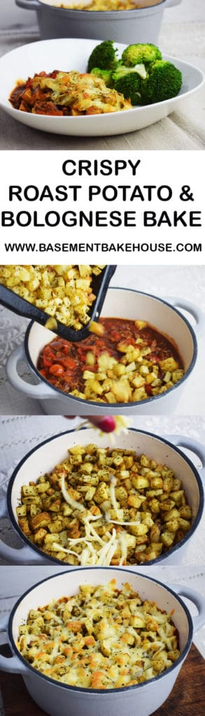 This delicious Crispy Roast Potato & Bolognese Bake is the perfect healthy family recipe! Syn free on Slimming World it combines a rich, thick and vegetable packed bolognese sauce with crispy herb roasted potatoes and a melted sprinkle of cheese! The perfect recipe to please the whole family and help you stay healthy and on plan!