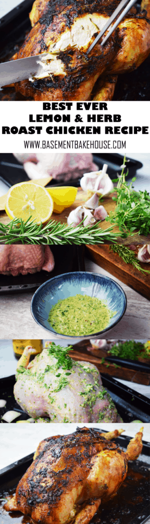 This is the Best Ever Lemon and Herb Roast Chicken Recipe! With a delicious marinade full of flavour, crispy roast skin and super tender, succulent chicken on the inside it's the perfect way to cook a roast chicken. Not sure how to cook roast chicken? This is the answer! Slimming World friendly, gluten free.