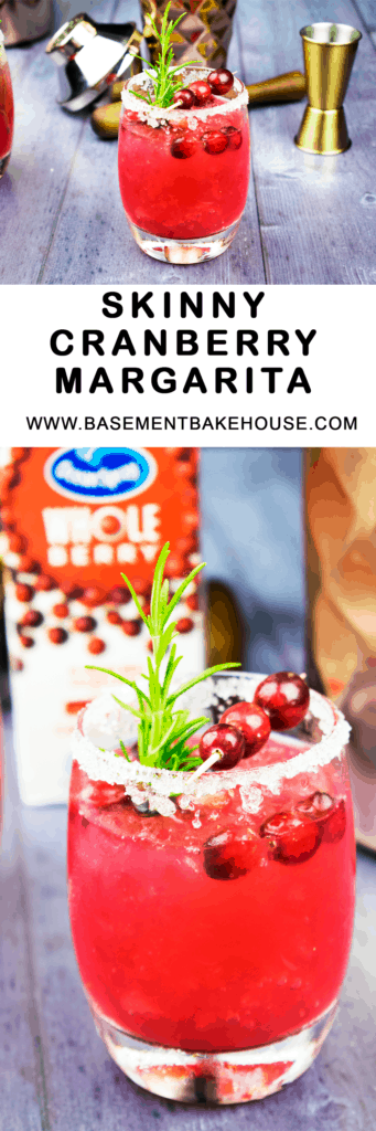 This delicious Skinny Cranberry Margarita is the perfect party cocktail recipe! Make it for your festivities, or just for a night in with the girls for a healthier take on a classic cocktail recipe!