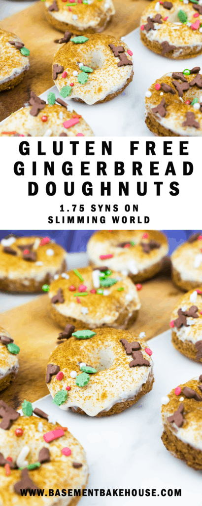You'll love these Healthy Gluten Free Gingerbread Doughnuts this Christmas! They're low fat, Slimming World friendly (just 1.75 syns each, or less using your Healthy Extras!) and they couldn't be more simple to make! The perfect easy Slimming World Christmas recipe to help you stay on track!