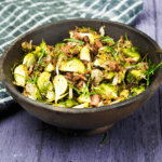 Roasted Garlic & Rosemary Brussels Sprouts