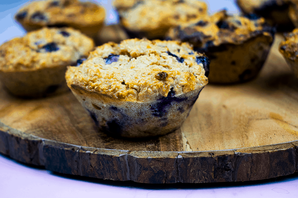 Healthy - Gluten Free - Blueberry and Oat Muffins - Slimming World - Sugar Free - Refined Sugar Free - Low Syn - Diet - Weight Loss