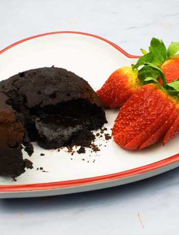 Low Carb Chocolate Fondant - Slimming World - Healthy - Valentines Day - Dessert - Keto Diet - Low Syn