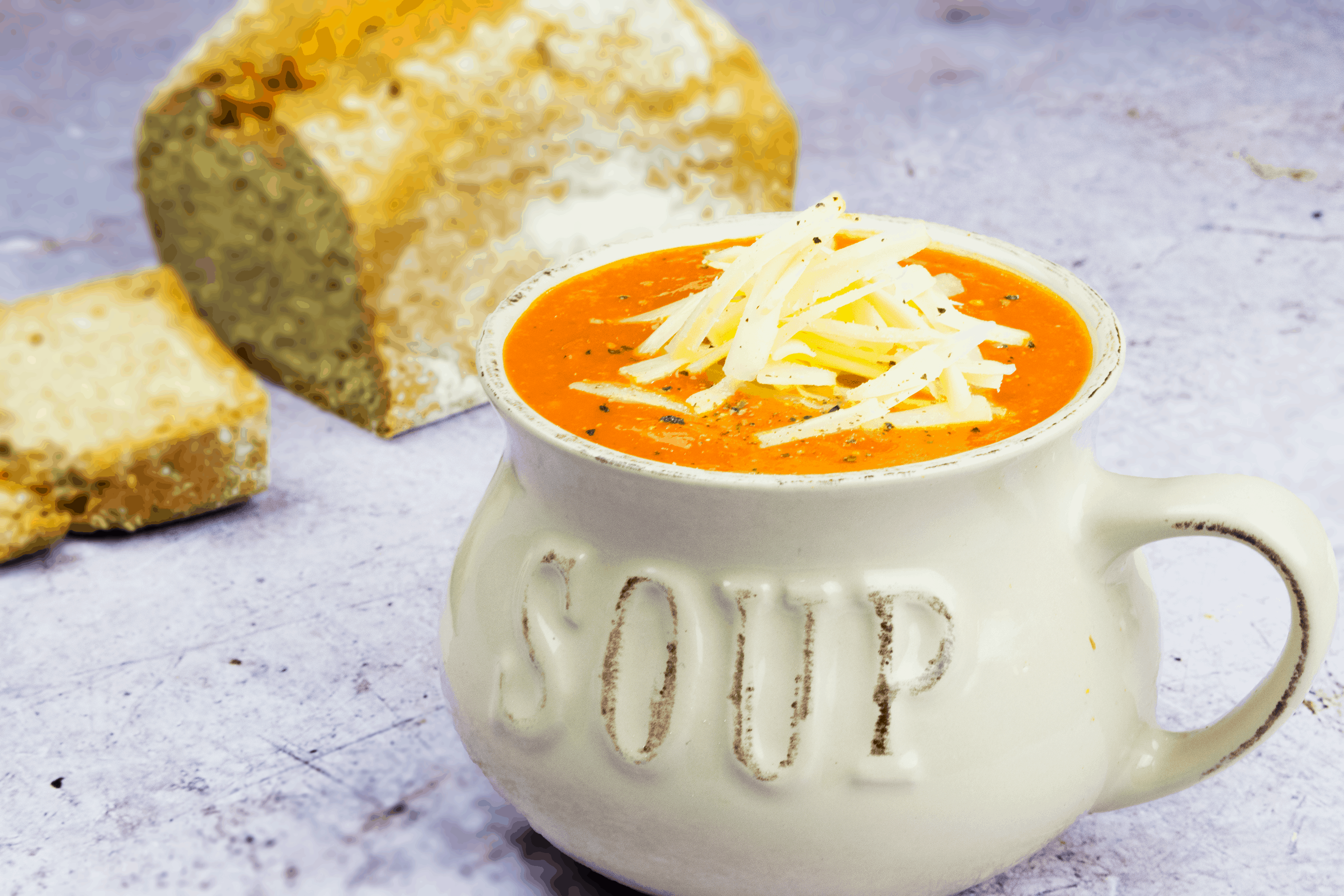 Slow Roasted Red Pepper and Tomato Soup