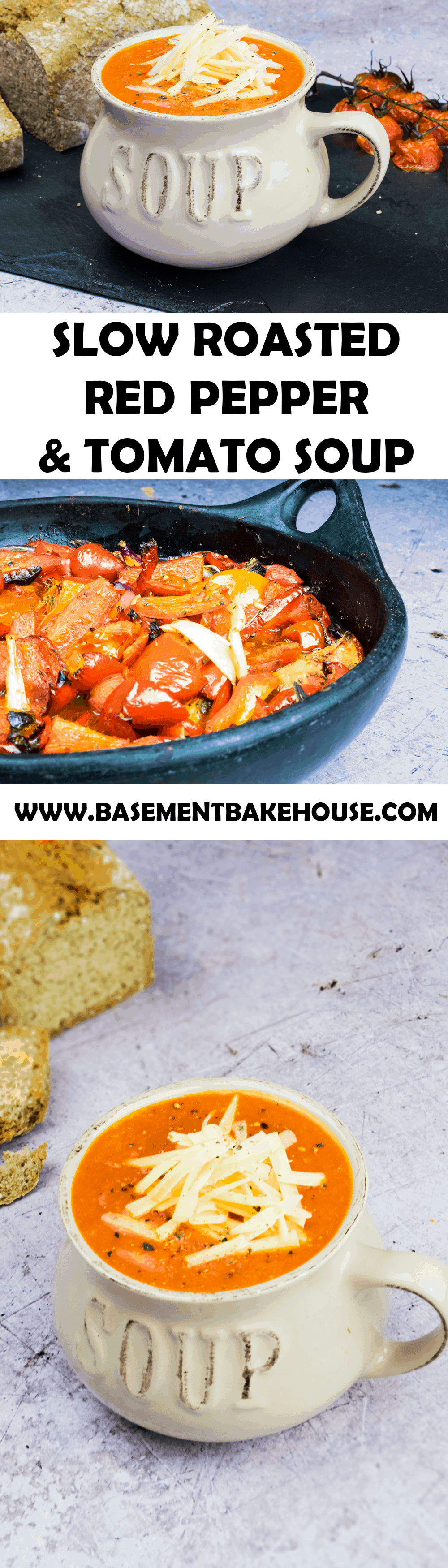 Slow Roasted Red Pepper and Tomato Soup - Basement Bakehouse