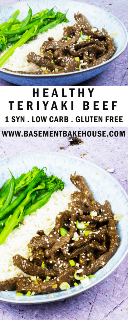 This delicious recipe for Healthy Teriyaki Beef is the ultimate simple Fakeaway!  It's a low syn recipe, at just 1 syn per portion and it's also low carb, gluten free and  easy to make. Whip it up in just 30 minutes for the perfect alternative Takeaway recipe!