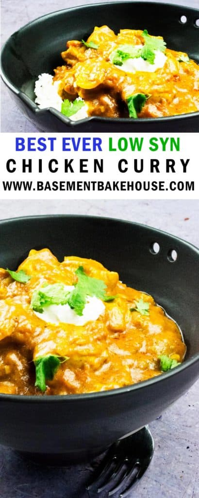 This silky smooth low syn chicken curry recipe is the best there is! With a thick, creamy sauce you'd never believe it was only 4 syns per portion! The perfect Fakeaway recipe for weeknight meals or at the weekend! It's even epic as a meal prep recipe. If you're looking for a Slimming World recipe then look no further!