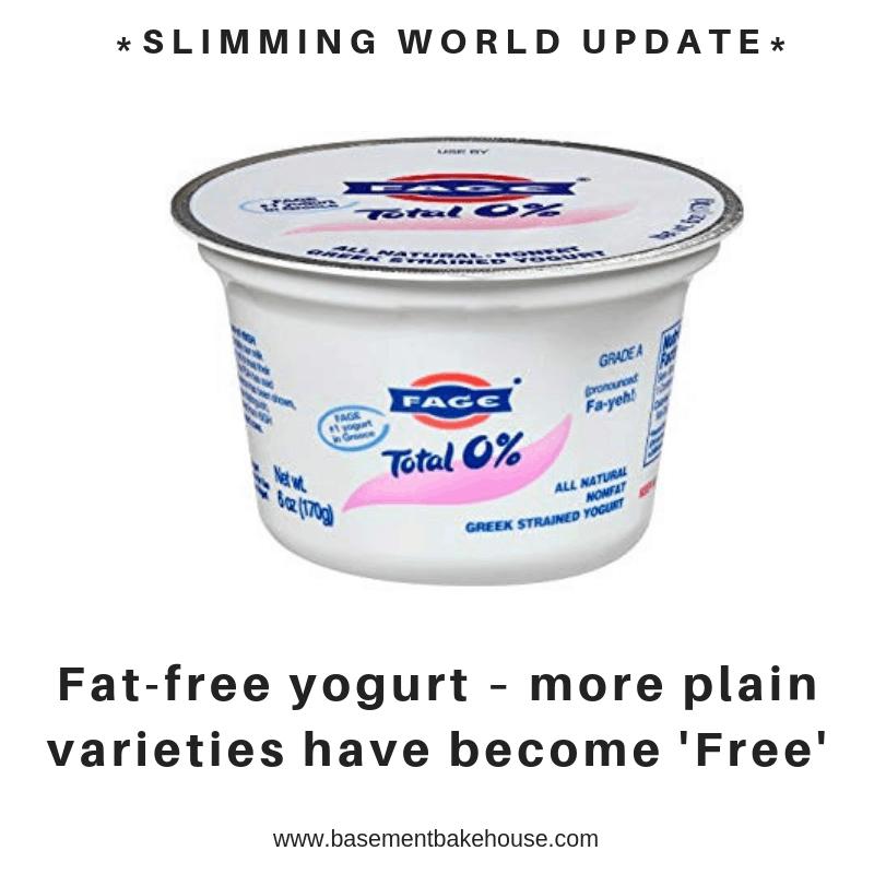 slimming world syn update - muller lights - free food - food optimising