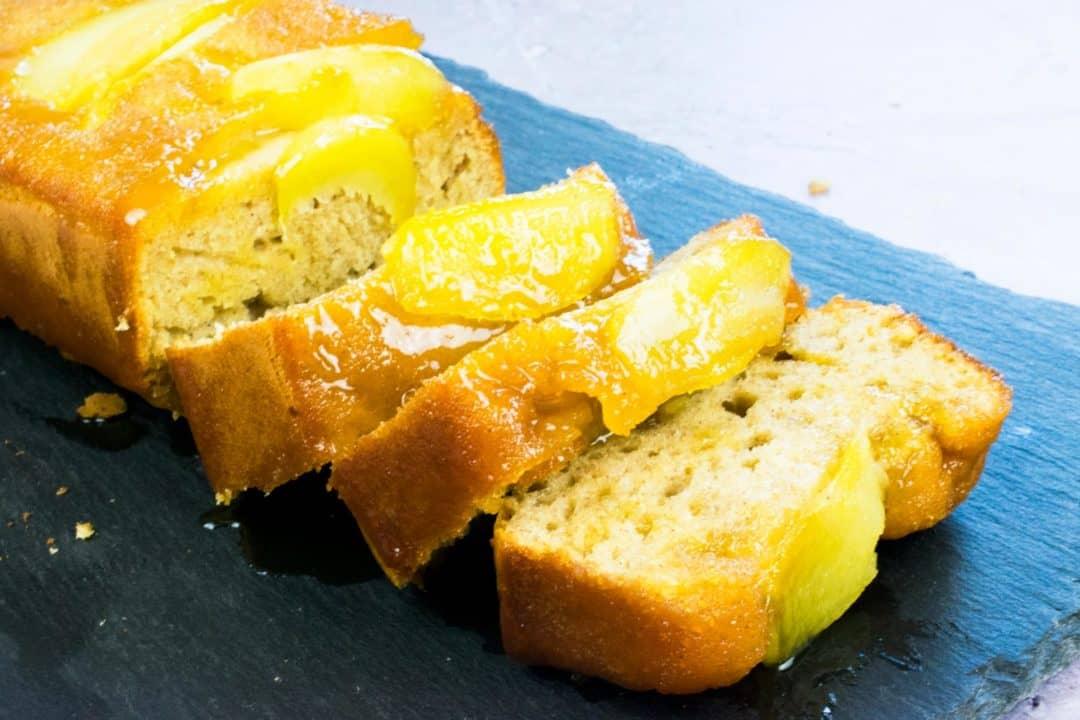 Low Syn Caramel Apple Upside Down Cake - Slimming World - baking - recipe - cake - pudding