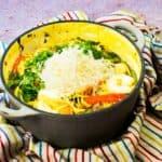 Creamy One Pot Prawn & Veggie Pasta